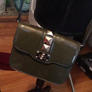 Cross body patent leather bag